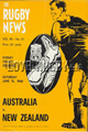 Australia v New Zealand 1968 rugby  Programme