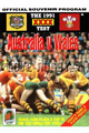 Australia v Wales 1991 rugby  Programmes