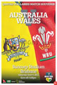 Australia v Wales 2012 rugby  Programme