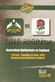 Australian Barbarians v England 2010 rugby  Programme