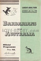 Barbarians v Australia 1948 rugby  Programme