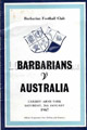 Barbarians v Australia 1967 rugby