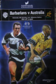 Barbarians v Australia 2001 rugby  Programme