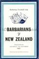 Barbarians v New Zealand 1967 rugby