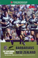 Barbarians v New Zealand 2004 rugby  Programme