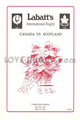 Canada v Scotland 1991 rugby  Programme