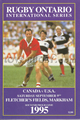 Canada v USA 1995 rugby  Programme