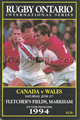 Canada v Wales 1994 rugby  Programme