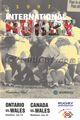Canada v Wales 1997 rugby  Programmes