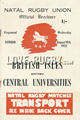 Central Universities v British Isles 1955 rugby  Programmes