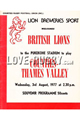 Counties-Thames Valley British Lions 1977 memorabilia
