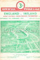 England v Ireland 1950 rugby  Programme