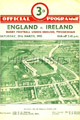 England v Ireland 1952 rugby  Programme