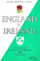 England v Ireland 1954 rugby  Programme