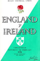 England v Ireland 1958 rugby  Programme