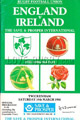 England v Ireland 1988 rugby  Programme