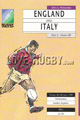 England v Italy 1991 rugby  Programmes