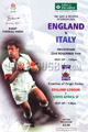 England v Italy 1996 rugby  Programmes