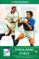 England v Italy 2001 rugby  Programmes