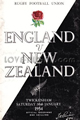 England v New Zealand 1954 rugby  Programme