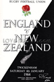 England - New Zealand rugby  Statistics