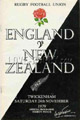England v New Zealand 1979 rugby  Programmes