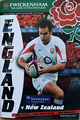 England v New Zealand 2006 rugby  Programme