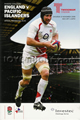 England v Pacific Islanders 2008 rugby  Programme