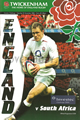 England v South Africa 2006 rugby  Programme
