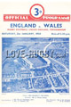England v Wales 1950 rugby  Programmes