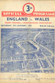 England v Wales 1952 rugby  Programme