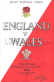 England v Wales 1956 rugby  Programmes