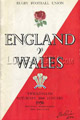 England v Wales 1958 rugby  Programmes