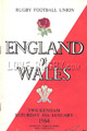 England v Wales 1964 rugby  Programmes
