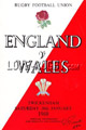England v Wales 1968 rugby  Programme