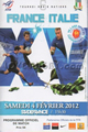 France v Italy 2012 rugby  Programme