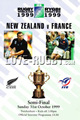 France v New Zealand 1999 rugby  Programmes