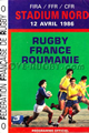 France v Romania 1986 rugby  Programmes