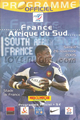 France v South Africa 2005 rugby  Programmes