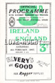 Ireland v England 1947 rugby  Programme