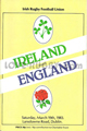Ireland v England 1983 rugby  Programme