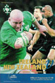 Ireland v New Zealand 2001 rugby  Programme