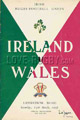 Ireland v Wales 1958 rugby  Programme
