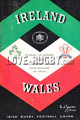 Ireland v Wales 1962 rugby  Programmes