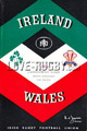 Ireland v Wales 1964 rugby  Programmes