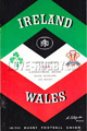 Ireland v Wales 1966 rugby  Programme