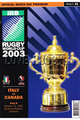 Italy v Canada 2003 rugby  Programmes