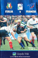 Italy v France 2001 rugby  Programmes