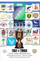 Italy v Tonga 1999 rugby  Programme