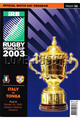 Italy v Tonga 2003 rugby  Programmes